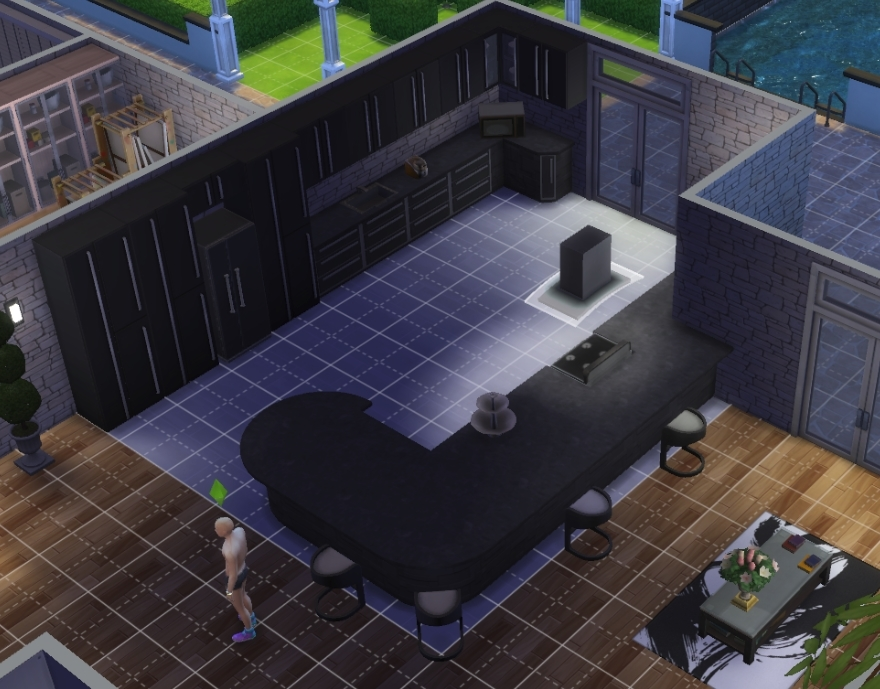 Here 39 s my attempt at a somewhat half modern house sims 4 for Modern house 6 part 2